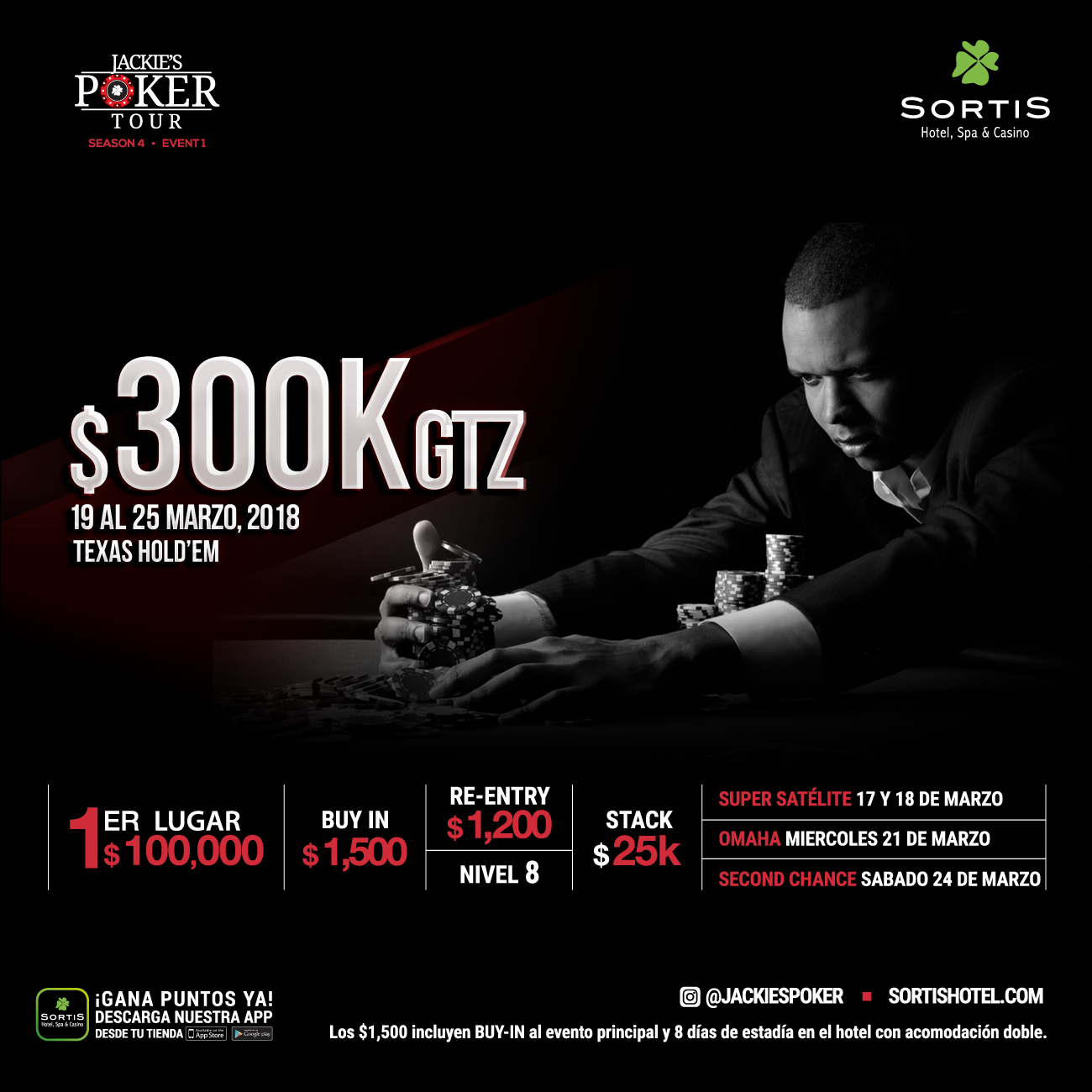 Jackies Poker Tour $300K GTZ. Season 4 - Event 1