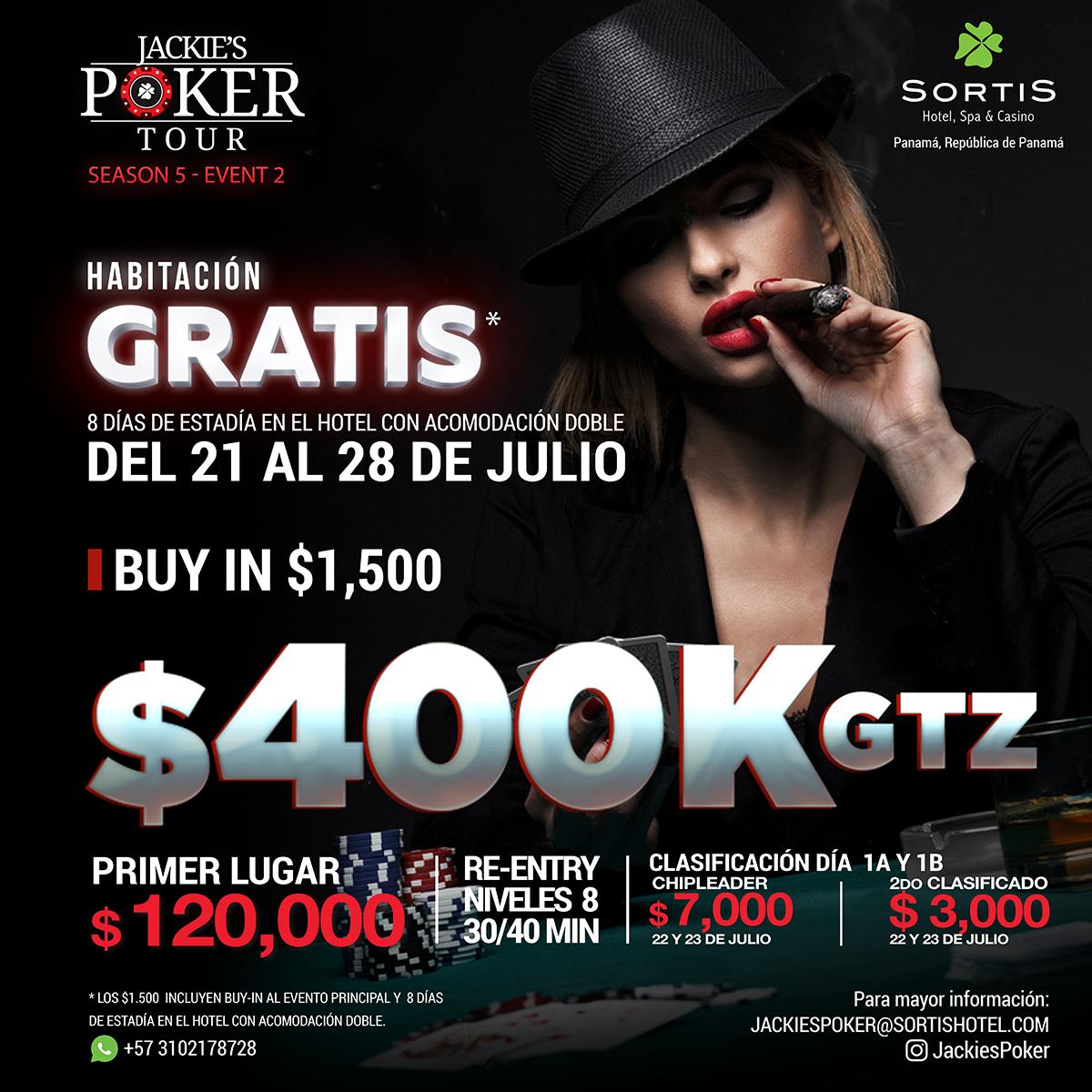 Torneo de PókerSeason 5 - Event 2con $400k GTZ