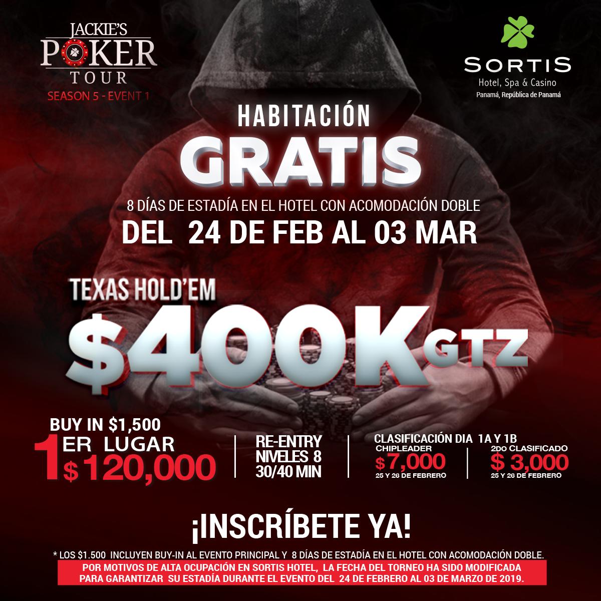 Torneo de PókerSeason 5 - Event 1con $400k GTZ