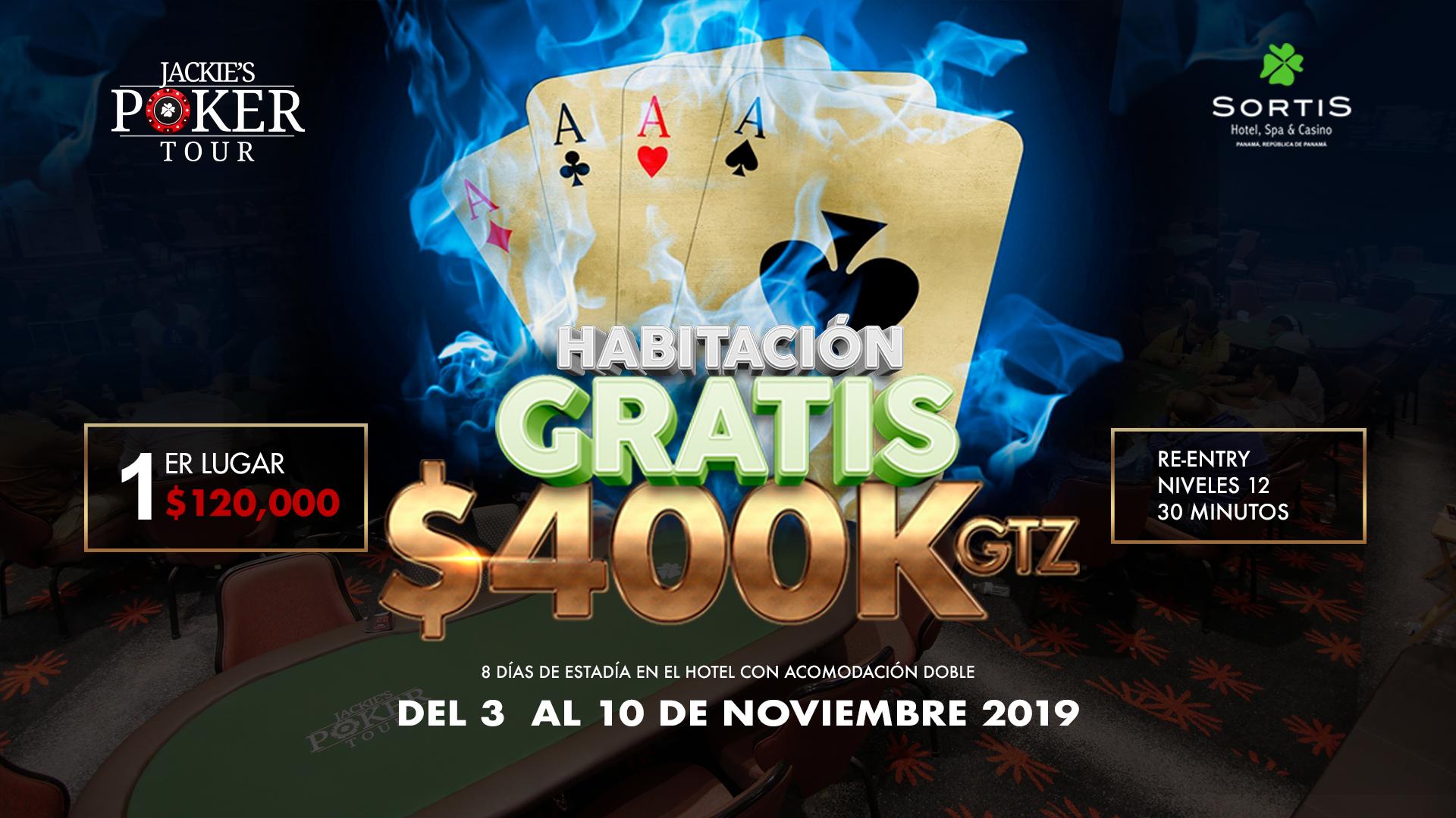 Jackie's Poker Tour con $400K GTZ